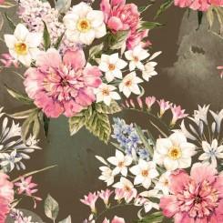 Kaffeservett blomma
